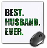 3dRose Best Husband Ever Cut Out of Green Computer Microchip Graphic Mouse Pad (mp_179728_1)