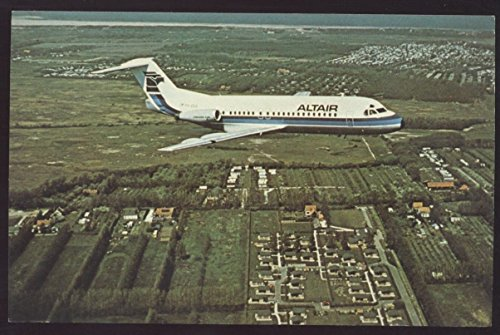 Altair Starjet F 28 Airliner Airplanes Postcard