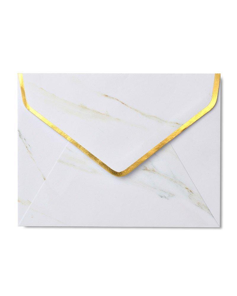Gartner Studios Gold Foil /& Marble A2 Envelopes 10 Count