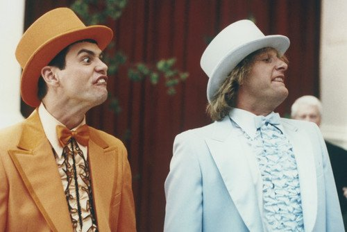 Jim Carrey and Jeff Daniels in Dumb and Dumber To in wedding suits 24x36 Poster -
