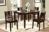 Poundex PDEX-F2242 Kitchen and Dining Room Sets, Brown