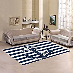 Love Nature Sweet Home Modern Collection Custom Anchor Area Rug 7'x5' Indoor Soft Carpet