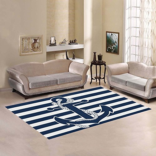 Anchor Home Collection - Love Nature Sweet Home Modern Collection Custom Anchor Area Rug 7'x5' Indoor Soft Carpet
