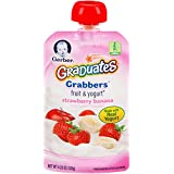 Gerber Graduates Grabbers, Fruit and Yogurt Strawberry Banana, 4.23 Ounce (Pack of 12)