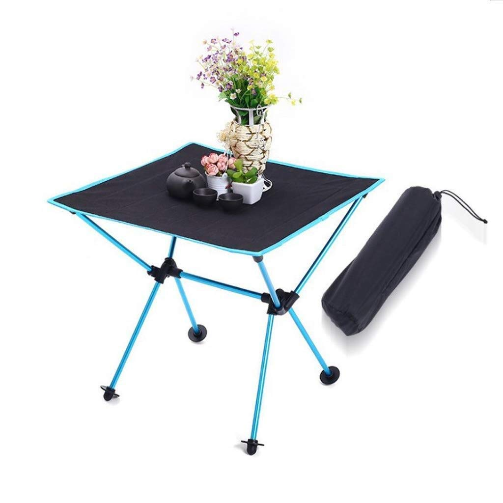 MUMM Picnic Table and Chairs Foldable Folding Catering Camping Trestle Table Lightweight BBQ Indoor Picnic Party oO (Color : Blue) by MUMM