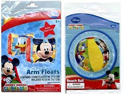 Amazon.com: Disney Mickey Mouse pelota hinchable de playa y ...