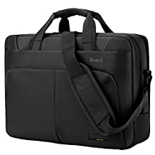 Laptop Bag Briefcase, BRINCH 17.3 inch Stylish Roomy Multi-Compartment Laptop Shoulder Messenger Bag Business Travel Briefcase for Men/Women Fits 17-17.3 inch Laptop/Notebook Computers,Black