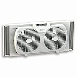 Comfort Zone CZ319WT Portable Twin Window Fan, 9''