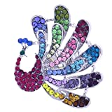 Soulbreezecollection Beautiful Multi Colorful Bird Peacock Stretch Cocktail Ring Pink Green Blue Clear Fashion Jewelry