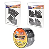 "PlayTape 60' x 2"" Black Road Starter Pack - Includes 2"" Street Curves - Tape Toy Car Track For Kids - Sticker Roll for Cars and Train Sets"