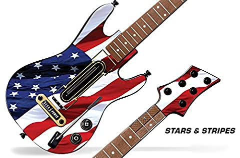 Decal Sticker for Guitar Hero Live Guitar Controller - Stars and Stripes (Decal Stickers Guitar)
