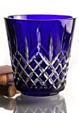 Waterford Crystal Lismore 7-1/2'' Blue Cobalt Ice Bucket, Includes Stainless Steel Tongs, New in Waterford Box