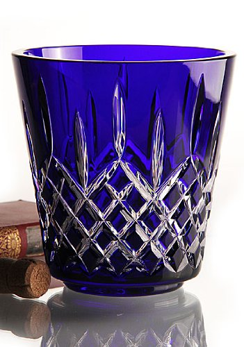 Waterford Crystal Lismore 7-1/2'' Blue Cobalt Ice Bucket, Includes Stainless Steel Tongs, New in Waterford Box by Waterford