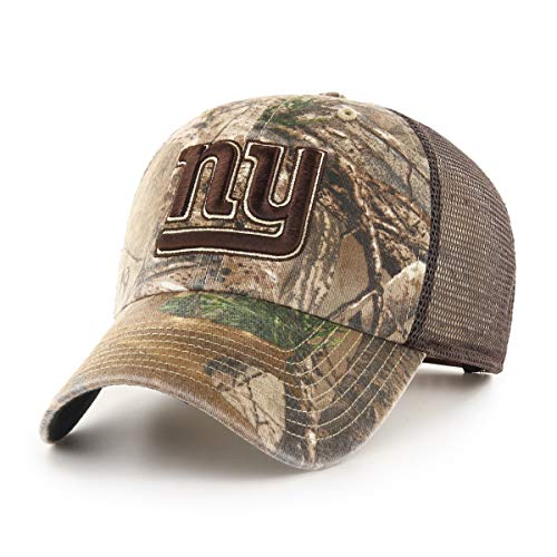 New Giants Visor York Logo - OTS NFL New York Giants Male Ledgewood Challenger Adjustable Hat, Realtree, One Size