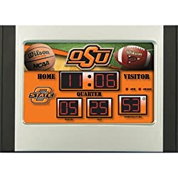 Oklahoma State Cowboys Scoreboard Desk Clock