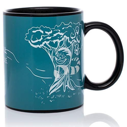 InGwest Home. Alisa Mugs. Cheshire Cat Mug. Changing Color Heat Sensitive Mug. We All Mad Here! ...