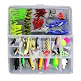 Professional Fishing Lure Kits Adapted Deep Top Water Trout Bass Salmon Spinner Baits Crank Baits Lures Spinner Baits Spoon Lures with Fishing Tackle