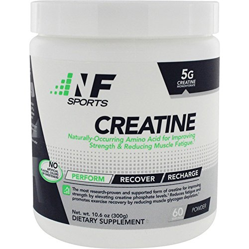 NF Sports Creatine – Naturally Occurring Amino Acid That Reduces Muscle Fatigue – Naturally Supporting Lean Muscle Mass and Short Duration Performance – 100% Satisfaction Guaranteed – 60 Servings