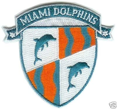 "Miami Dolphins NFL Football Shield Team Logo Patch 3"""