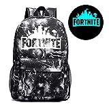 Luminous Fortnite Backpack Luminous School Bag Galaxy Laptop Book Hiking Bag (Lightning black)