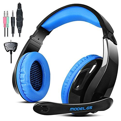 Price comparison product image LETTON PS4 Gaming Headphones G5 3.5mm Stereo Sound PC Gaming Headset with Microphone, Over Ear Noise Canceling for Xbox One / Mac