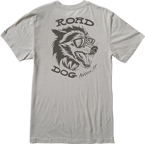 RVCA Men's Road Dog Aged Dryhan T-Shirt, Silver Bleach, Large