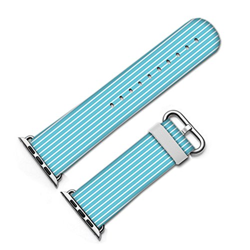 For Apple Watch, fashion Artistic pattern Leather Watch Band 38mm 42mm Strap for Apple Watch 3, 2, 1 Design Wrist Watch iwatch Bracelet-553.Stripes Wallpaper