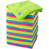 "MR. SIGA Microfiber Cleaning Cloth,Pack of 24,Size:12.6"" x 12.6"""