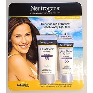 Neutrogena Ultra Sheer Spf 55 Sunscreen Light Weight Clean Feel 5.0 Fl Oz +3.0 Fl Oz Net Wt 8 Fl Oz