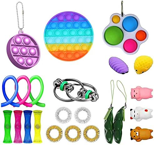Fidget Toy Pop It Sensory Toy Setbubble Sensory Fidget Toystress Relief Toys Setsensory Fidget Speelgoedset Voor Stressverlichting Angstverlichting Speciale Speelgoedsets Voor Verjaardagsfeestjes