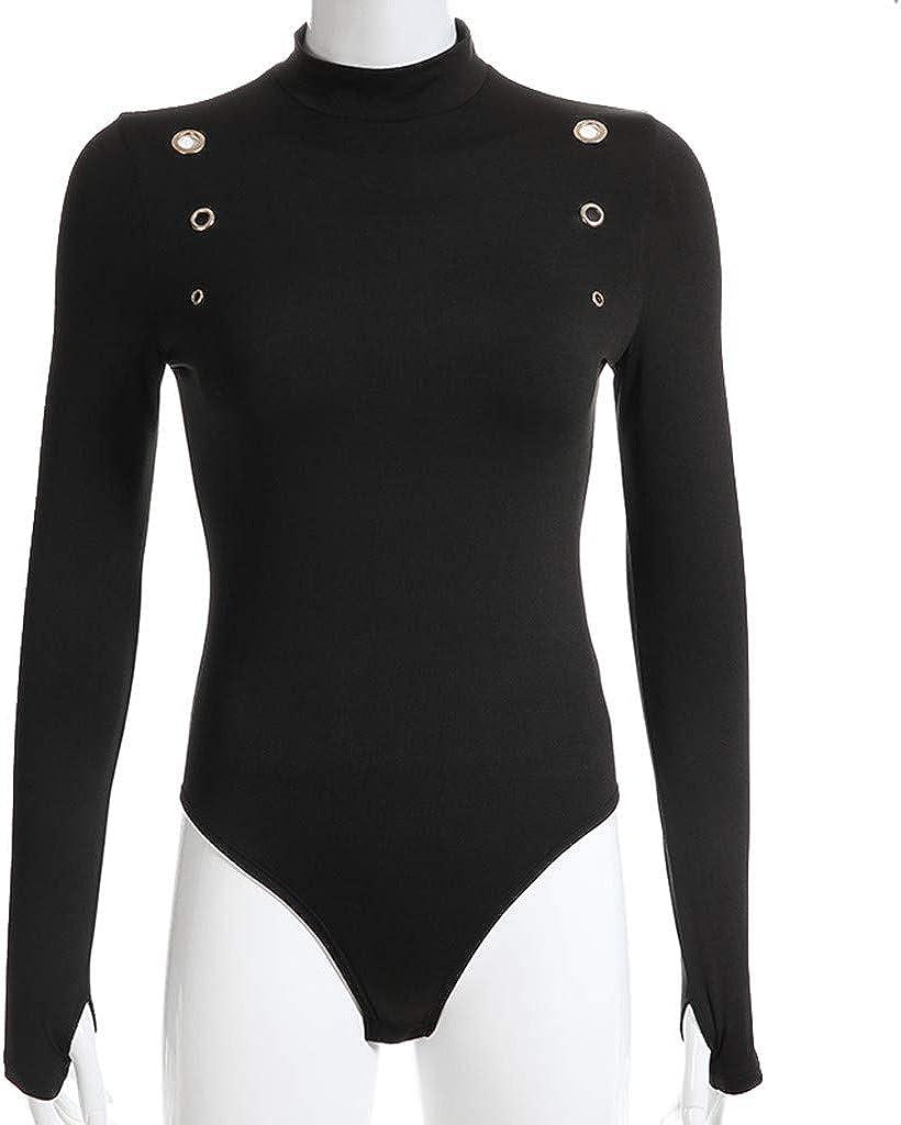 Subfamily Bodys Combishort Femme Chic Combinaisons Pois Manches Longues Mini Bodysuit Jumpsuit Hauts