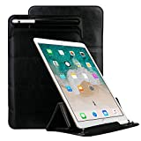 Apple PU Leather Sleeve for 10.5'' iPad Pro,Portable Pouch with Apple Pencil Stylus Slot Holder/Tri-fold Stand/Screen Protective Case Cover for 2017 iPad Pro 10.5 Inch by elecfan - Black