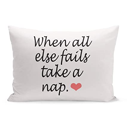 Aikul Throw Pillow Covers Quotations When All Else Fails Take Nap Quote Heart Funny Pillow Case Cushion Cover Lumbar Pillowcase Decoration for Couch ...