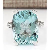 Women Elegant Jewelry 925 Silver Aquamarine Gemstone Wedding Engagement Ring by Siam panva (6)