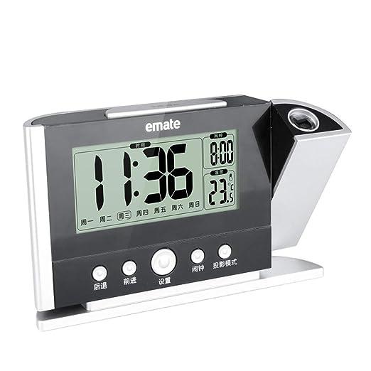FENGCLOCK Reloj de Alarma de proyección Digital infrarrojo ...