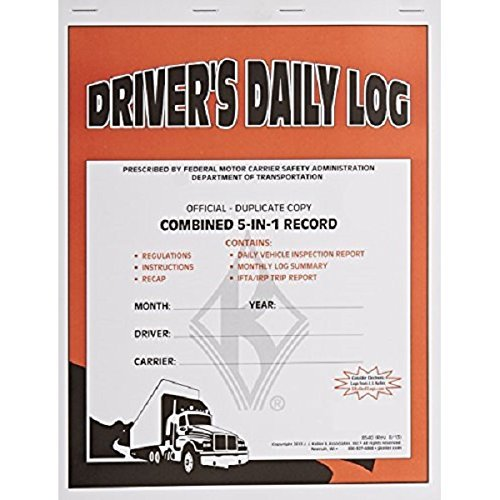 JJ KELLER 607L (8540) DRIVER'S DAILY LOG COMBINED 5-IN-1 RECORD