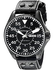 Hamilton Mens H64785835 Khaki King Pilot Black Dial Watch