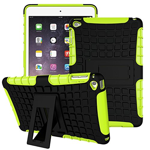 APPLE iPad Mini 4 Case, Scratch-Resistant Dual Layer Hybrid Protective Case and Shockproof Bumper with Kickstand for iPad Mini4 by Boonix (Green - Easy - Kors Canada