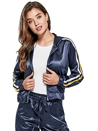 GUESS Factory Women's Women's Malo Striped Bomber Jacket