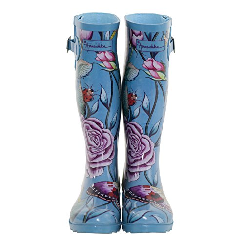 Anuschka Rain Boot Amour D Roses Women's Adjustable and Printed FTvFq