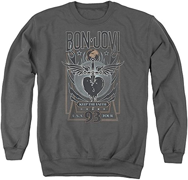 ?Bon Jovi - męski keep The Faith Sweater - xxl: Odzież