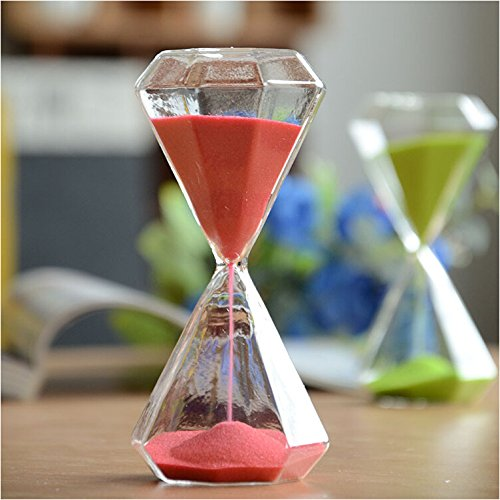 Diamond Hourglass (Graces Dawn® Diamond glass hourglass Red sand 15 minutes with)