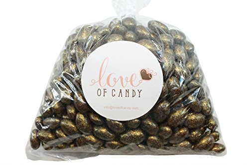 Love of Candy Bulk Candy - Gold Chocolate Almonds - 1lb Bag]()