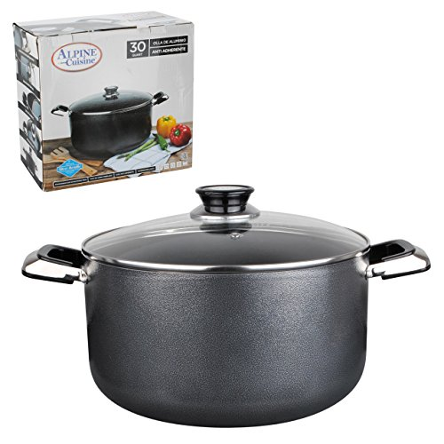 Aramco Alpine Gourmet Aluminum Non-Stick Coating Dutch Oven, 22 quart, Silver/Gray