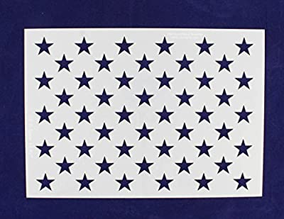 "50 Star Field Stencil 14 Mil -US G Spec 10.5 x 14.82"" Long Star Field- Painting /Crafts/ Templates by TCR Engraving & Graphics"