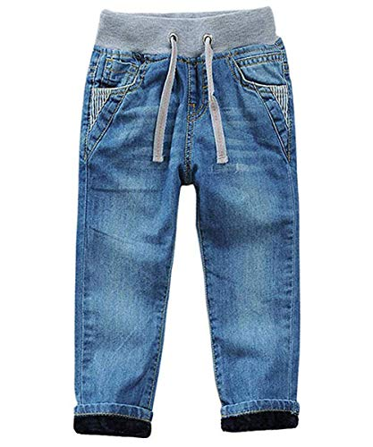 - Big Boys Toddler Kids Pure Cotton Denim Jeans Pants Size 4T 5T 6 8-14 (Blue, 4T)
