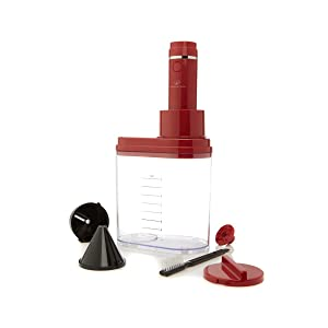 WP Electric Power Spiralizer Red 3 in 1 With 3 Blades and Recipes