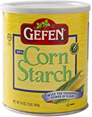 Gefen Corn Starch 100% Pure, 16oz Canister with Resealable Lid, (2 Pack), 2 lbs Total