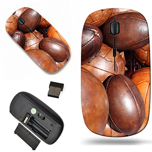 1000 Rugby (Luxlady Wireless Mouse Travel 2.4G Wireless Mice with USB Receiver, 1000 DPI for notebook, pc, laptop, computer, mac design IMAGE ID 7081164 Soccer and rugby balls)