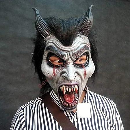 HUANGZHENYIN Máscara De Látex Accoutrements Vampiro Cráneo Fiesta Halloween Máscaras De Terror De Miedo E F: Amazon.es: Juguetes y juegos